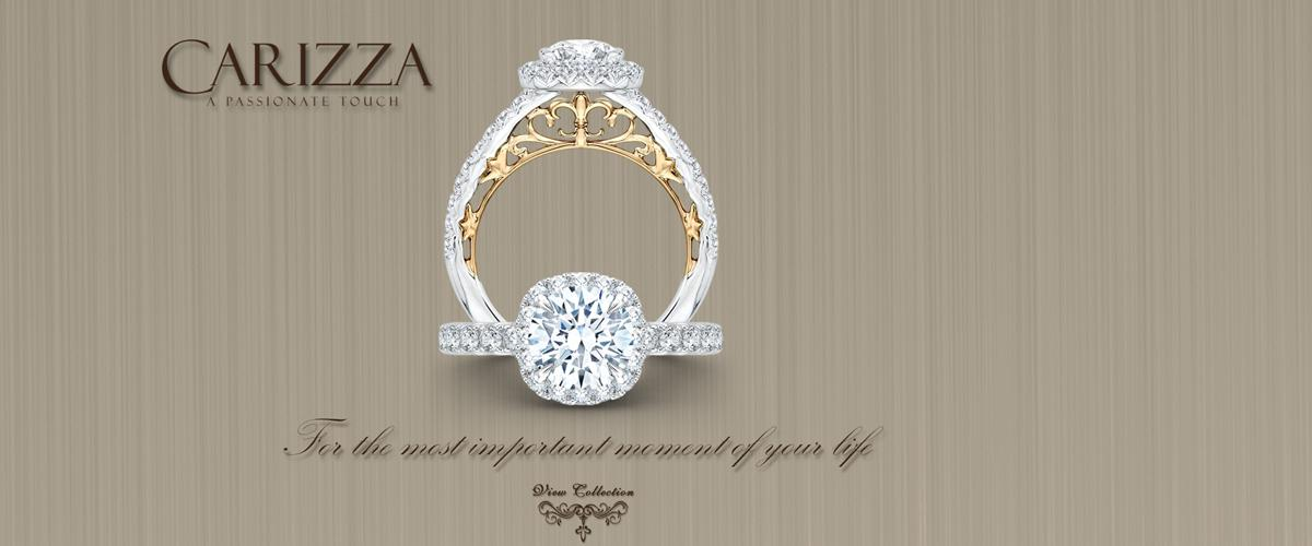Carizza Engagement Rings available at Crown Jewelers in Augusta GA - Carizza - Homepage Banner