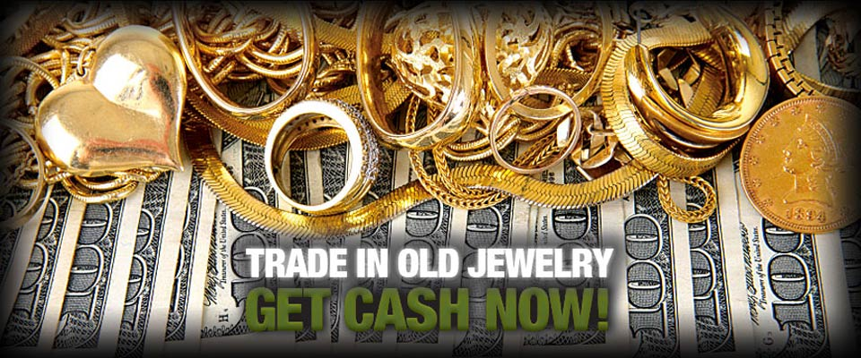 Gold Buying Banner - Trade in old jewelry, get cash now!