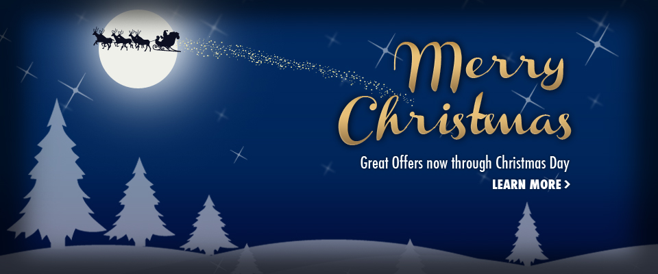 Christmas Offers - Merry Christmas - Great offers now through Christmas Day