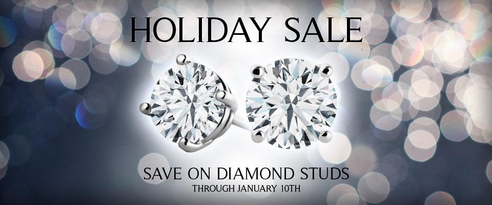 Holiday Sale - Holiday Sale / Now through Jan 10th / Diamond Studs