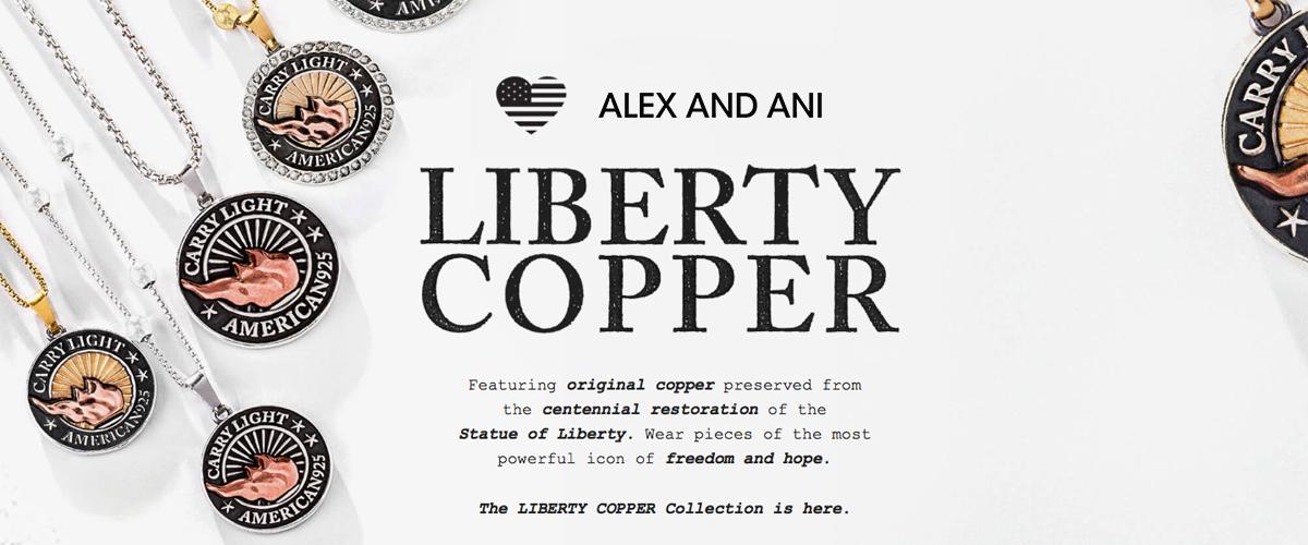 Alex and Ani Liberty Copper -